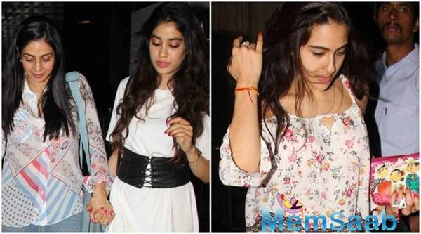 Check Out! What Sridevi has to say about the comparisons between daughter Jhanvi Kapoor and Sara Ali Khan