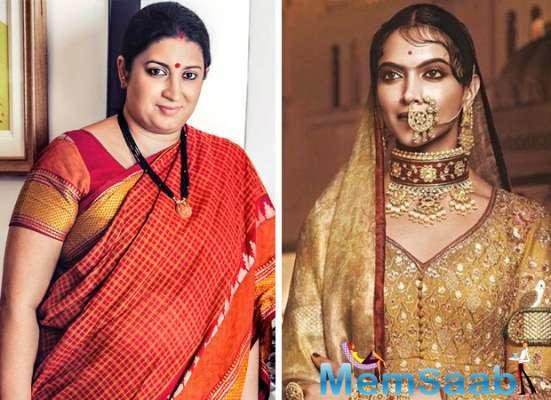 Smriti Irani to view Padmavati?