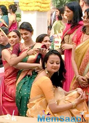 Deepika Padukone recently stunned everyone by wearing a lovely royal red saree at the wedding of her childhood friend.