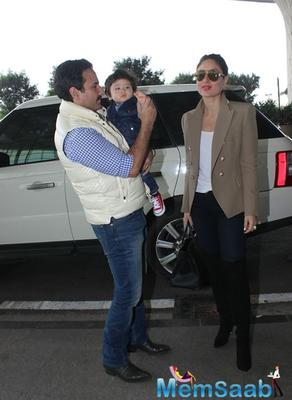 Taimur stole the show with his adorable looks and magnetic charm at the Airport