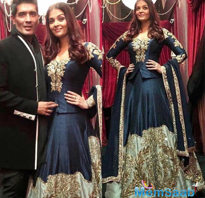 Aishwarya Rai Bachchan looks enchanting in Manish Malhotra creation