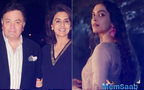Neetu Kapoor, Rishi Kapoor 'so very proud' of Deepika Padukone