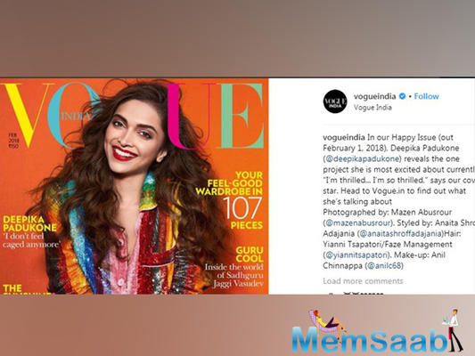 Deepika Padukone beams with joy on the 'happy' issue