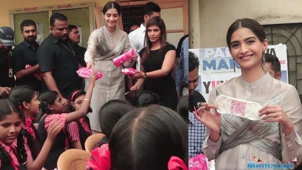 Sonam Kapoor asks for Rs 400 to buy sanitary napkins