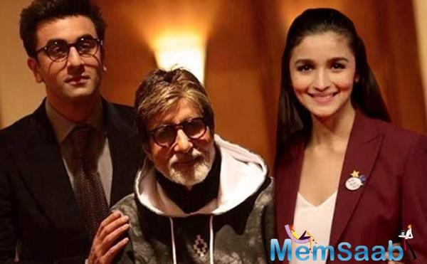 Amitabh Bachchan, Ranbir Kapoor and Ayan Mukerji's brainstorming at a look test for 'Brahmastra'