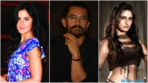 After Katrina Kaif, now Aamir Khan and Fatima Sana Shaikh's Thugs Of Hindostan photo goes viral