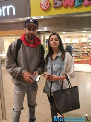 Alia Bhatt and Ranbir Kapoor filming for a chase sequence for Brahmastra