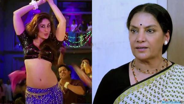 Shabana slams 'heaving bosom, swinging navel' in item numbers, blasts Kareena's song