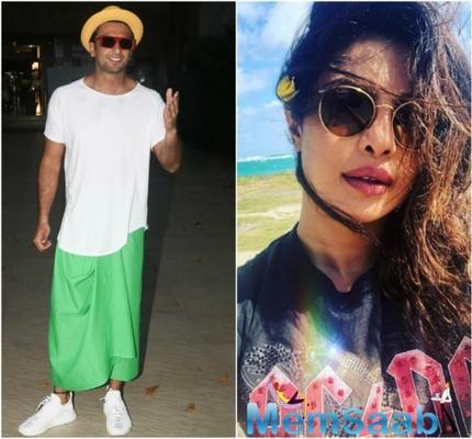 Ranveer Singh joins Priyanka Chopra's Instagram live; PeeCee reveals about her next Bollywood Film!