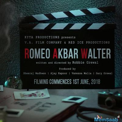 John Abraham will star in the spy-thriller Romeo Akbar Walter