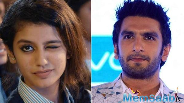 Priya Prakash Varrier was never even considered for Ranveer's Simmba