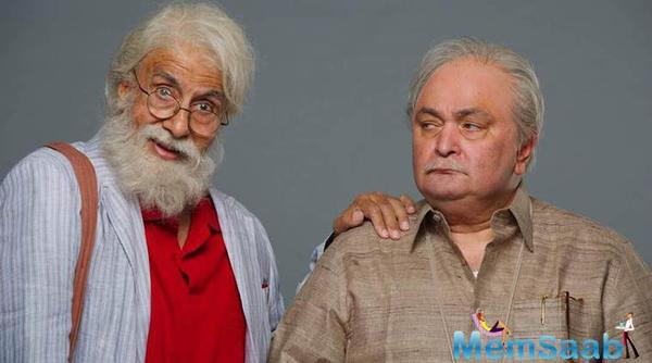 Interesting poster of '102 Not Out': Big B and Rishi Kapoor make for the coolest dad-son duo