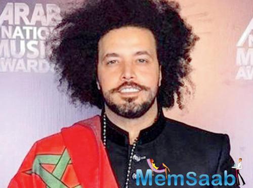Badshah hobnobbed with Moroccan singer Abd El Fattah Grini in Dubai recently.
