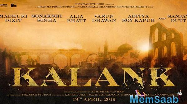 Kalank: Karan Johar's multistarrer production to release on 19th April 2019