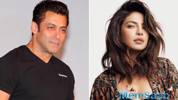 Salman Khan welcomes Priyanka Chopra on board for 'Bharat'