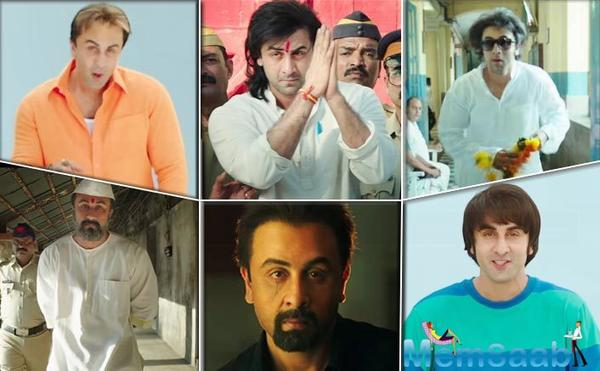 "Hirani shared the new poster with a caption, ""Ranbir as #Sanju! When he came out of Jail in 2016. Watch his complete story on June 29. #RanbirKapoor #RajkumarHiraniFilms @VVCFilms @foxstarhindi."""