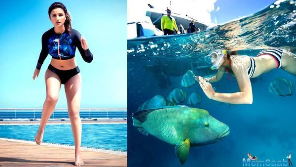 Parineeti Chopra flaunts a fab figure in a Swimsuit