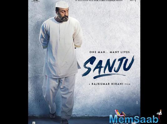 Sanju poster: Ranbir Kapoor as Sanjay Dutt during his jail term