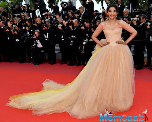 Cannes 2018: Sonam Kapoor shines in nude gown at solo: A Star Wars Story screening