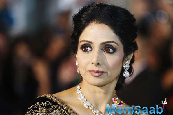 Sridevi honoured at the Cannes, Subhash Ghai accepts honour on her family's behalf