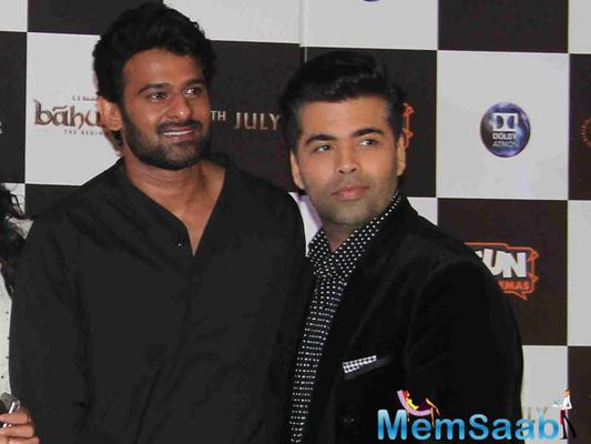 No bad blood with Karan Johar, says Prabhas