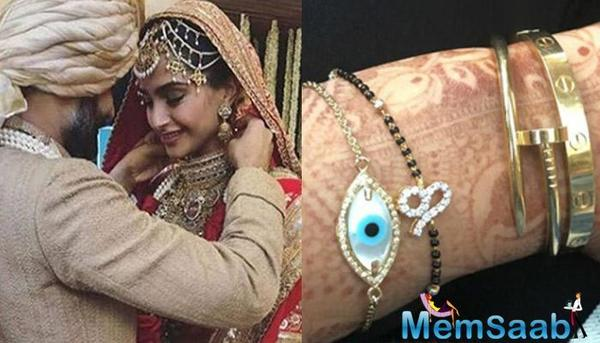 Sonam Kapoor Ahuja trolled for wearing mangalsutra on wrist
