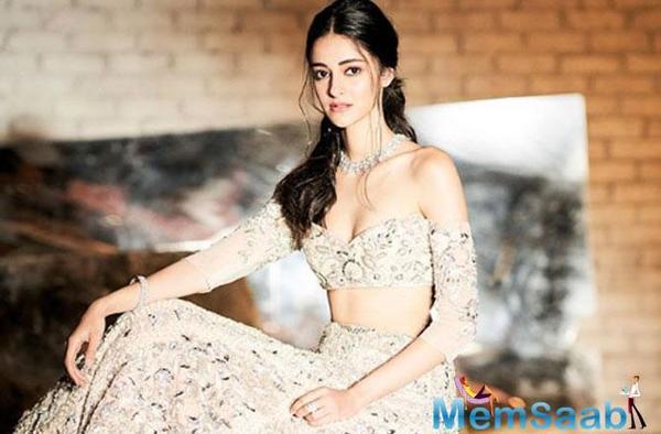 Gorgeous! Ananya Panday dazzles in a Manish Malhotra Lehenga