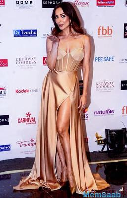 Malaika Arora makes heads turn in a customised nude gown at Miss India 2018 show
