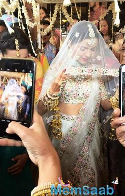 First pic! Rubina Dilaik makes for a resplendent bride in white