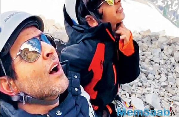 Hrithik Roshan takes a break from Super 30, holidays with 'his boys'