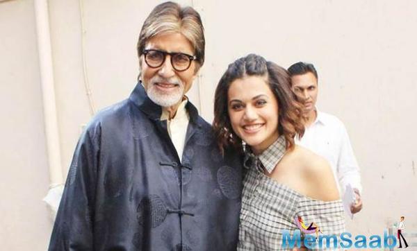 Taapsee Pannu recreates Amitabh Bachchan in Mulk