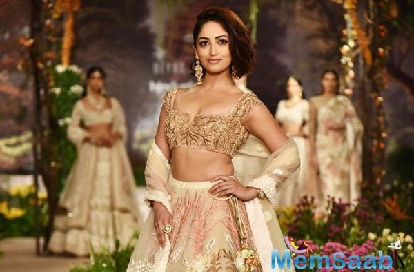 Yami Gautam, who turned showstopper for designer Reynu Taandon in New Delhi on Sunday, says walking the ramp can be unnerving but she feels fine right after she takes to the runway.