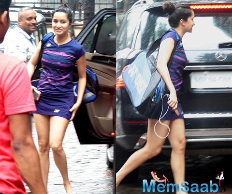 Shraddha Kapoor is still training for Saina Nehwal biopic