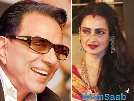 Dharmendra and Rekha recreate Rafta Rafta