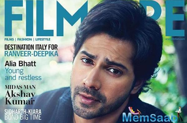 Varun Dhawan poses for magazine cover Filmfare