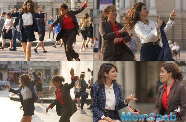 Dangal girls Fatima Sana Shaikh and Sanya Malhotra go crazy on the streets of Europe