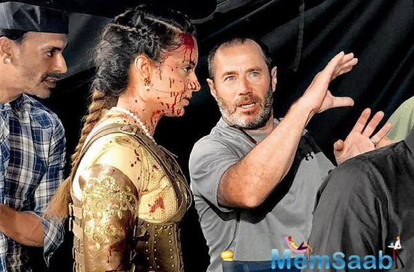 Kangana Ranaut gets bloody on the sets of Manikarnika