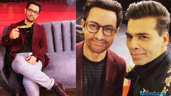 Aamir Khan, was accompanied by his wife Kiran Rao on the fourth season of 'Koffee With Karan' and his Dangal co-stars Sanya Malhotra and Fatima Sana Shaikh in the previous season.