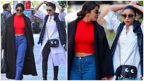 Priyanka Chopra is back in New York after shooting for Shonali Bose's The Sky Is Pink in London. She caught up with Alia Bhatt, who is also in the Big Apple.