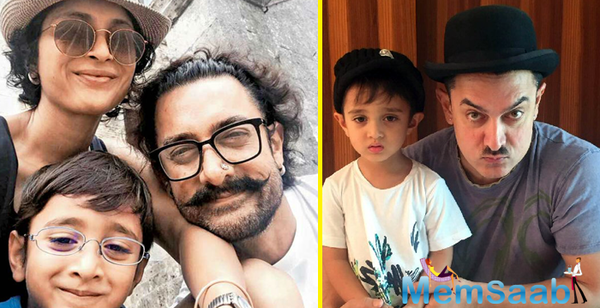 Azad watches Thugs of Hindostan with dad Aamir Khan