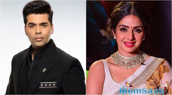 Karan Johar: Always wanted to direct Sridevi