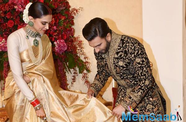 Ranveer-Deepika Bengaluru wedding reception: Duo look regal in these pics