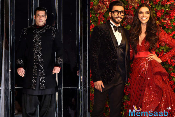 Salman Khan gave Ranveer-Deepika wedding reception a miss, Here is why