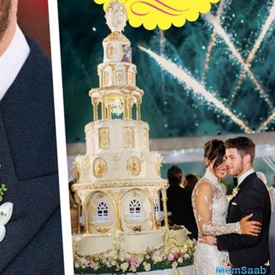 Nick Jonas reportedly flew in chefs to prepare the 18-foot wedding cake for his and Priyanka Chopra's wedding.