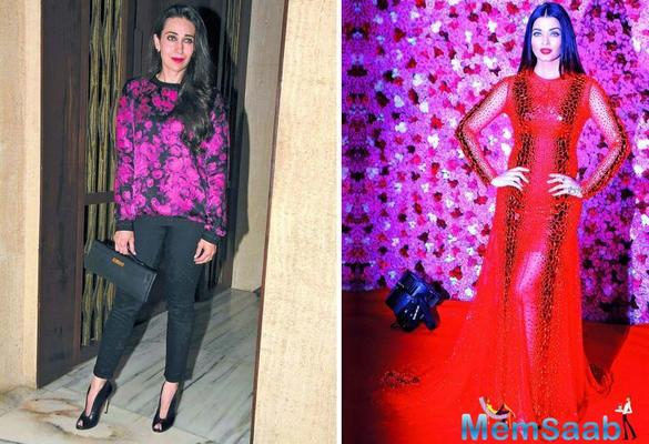 Aishwarya and Karisma dance together at the Ambani's celebration