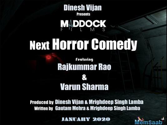 Rajkummar Rao bags 2nd horror comedy