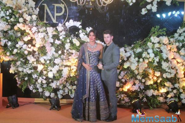 After a lavish wedding and a grand Delhi reception, newlyweds Priyanka Chopra and Nick Jonas on Wednesday hosted a reception in Mumbai.