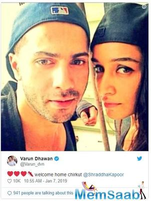 ABCD 3: Varun Dhawan confirms Shraddha Kapoor will replace Katrina Kaif, says 'welcome home Chirkut'
