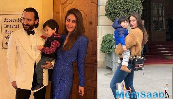 Kareena Kapoor Khan and son Taimur Ali Khan latest holiday pic from Paris