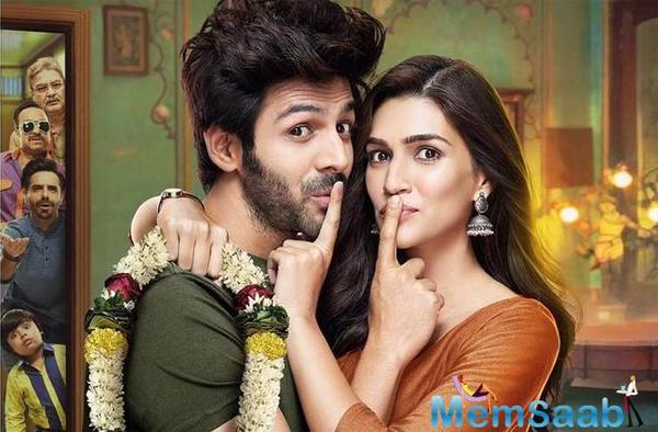 Luka Chhupi first poster out: Kartik Aaryan and Kriti Sanon's film's trailer will be released tomorrow